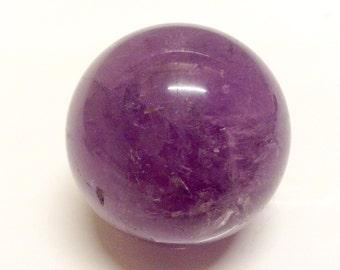 Amethyst sphere purple crystal ball polished