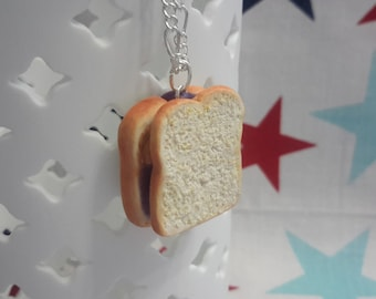 Peanut Butter and Jelly Sandwich Necklace
