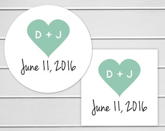 Wedding Stickers, Wedding Favor Stickers, Envelope Seals, Calendar Stickers, Save The Date Stickers (#091)