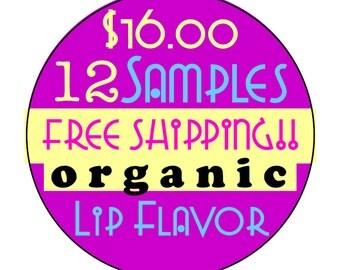 12 Organic Flavor Oil Samples // Organic Lip Balm Flavor // Handmade Lip Balm