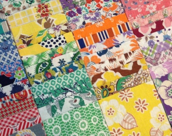 1930's Sampler Charm Pack Vintage Feedsack Fabric 54 Pieces Squares Quilt Patchwork Craft