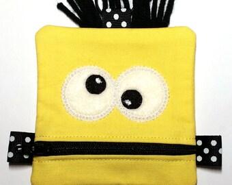 Yellow Monster Zipper Pouch