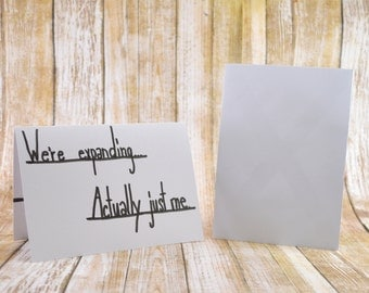 Pregnancy Announcement Card, Baby Announcement, We're Pregnant Card, You're A Grandparent Card, Cute Baby Announcement