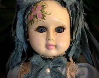 "Beautiful Hand Painted OOAK Bisque Art Doll ""Megan"""