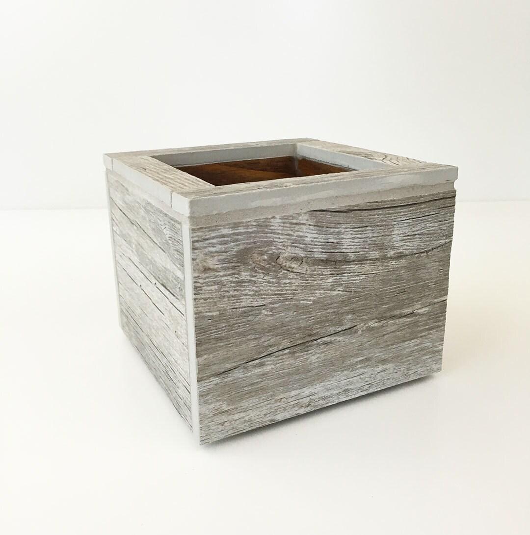 Storage Boxes Bathroom: Bathroom Storage Wood Box Porcelain Box Planter Box Decor