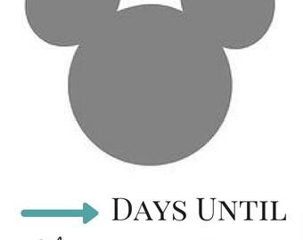 Disney Countdown Calendar - Printable Mickey Mouse Calendar - Instant Download PDF - Disney Cruise Countdown