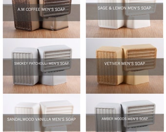 Men's Soap Bulk Listing, Men's Soaps, Handmade Soaps, Bulk Soap Listing, Six Bars, Gifts for Him, Choose your six