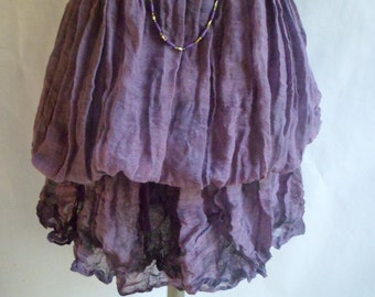 SKIRT - Dress adjustable, short or long, purple and pink shades
