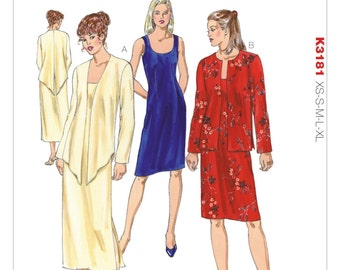Kwik Sew Pattern K3181 Misses' Dress and Open-Front Jackets
