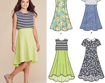 Simplicity Pattern 8065  Girls' / Girls' Plus Dress with Length Variations