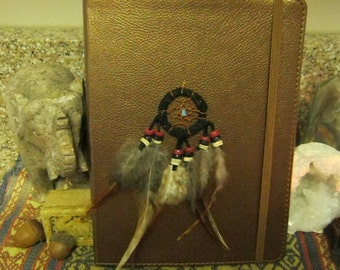 Blank Journal/Book of Shadows with Dream Catcher Pendant