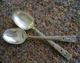 "Vintage Community ""Coronation"" Silverplate Sugar Spoon"