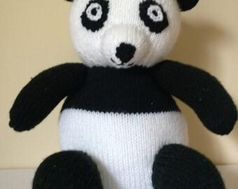 Knitting Pattern Panda Jumper : Knitted panda Etsy