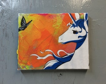 The Last Unicorn - Ready to Hang Art on Stretched Canvas