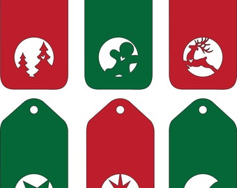 Gift Tags - Christmas svg or dxf file