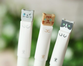 """Set of 3 """"Cat"""" Pens"""