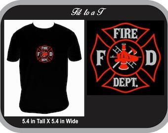 Fire Department Men's T-Shirt, Firefighter T-Shirt, Firefighter Gift, Fireman T-Shirt