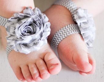 Barefoot sandals; baby barefoot sandals; grey chevron sandal; toddler barefoot sandal; sandal
