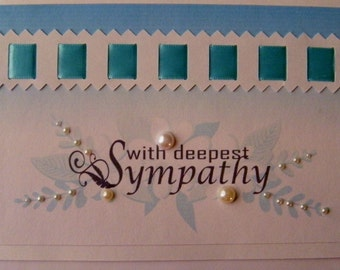 with Deepest Sympathy Turquoise and Beads.