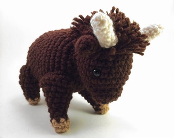 Bo the Buffalo, Crocheted Amigurumi