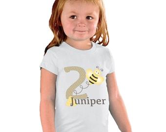 Birthday Girl Bumble Bee Shirt