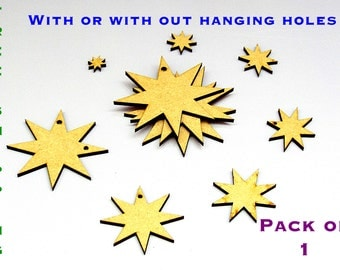 Pack of 1 -8 Pointed STAR  500mm from 3mm MDF
