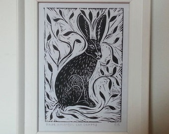 Hare Amongst The Leaves