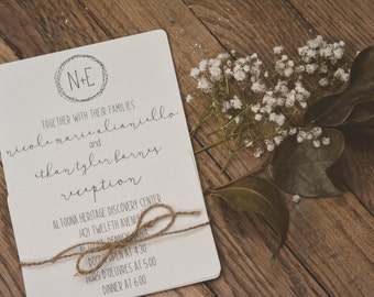 RUSTIC|Wedding Invitation Set #22