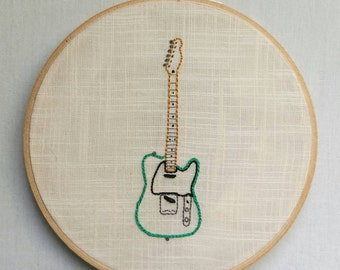 Embroidered Fender Telecaster Electric Guitar