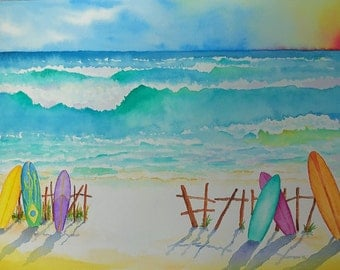 Summer Daze - Watercolor on Paper or Canvas