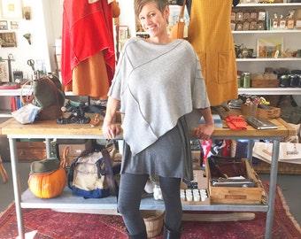 Handmade upcycled cashmere poncho