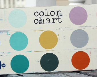 Sweet Signs of Life Color Chart---NOT FOR SALE