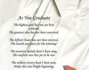 Graduation Poem As You Graduate