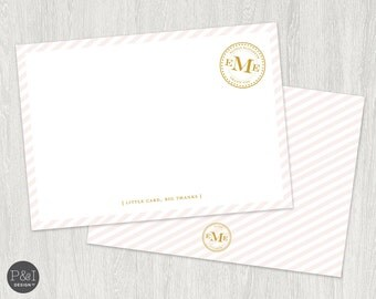 Personalized Thank You Stationary / DIY/ Printable / 6x4 Flat Card