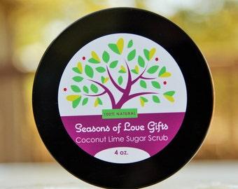 Sugar Scrub - Body Scrub - Summer Scrub - Coconut Lime - Sugar Scrubs  - Gift for Her - Baby Shower Favors- Tropical Scrubs - Citrus Scrub