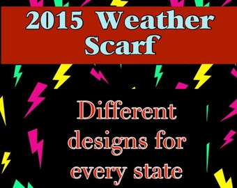 Weather Scarf Customized for every US State and Select Countries