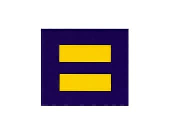 Equality / Equal Rights Symbol - Bumper Sticker / Decal or Magnet