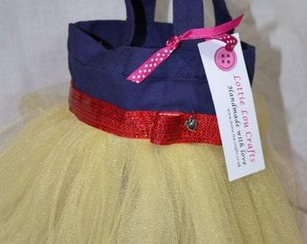 Navy Blue and Yellow Princess Tutu Bag