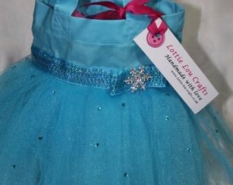Turquoise Princess Tutu Bag with Rhinestones