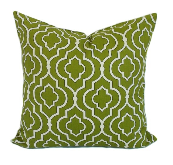 Green pillow covers throw pillows toss pillow by pillowcorner for Sofa cushion covers 24x24