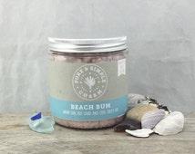 Beach Bum Whipped Salt Scrub, Whipped Salt Scrub, Whipped Mango Butter, Sea Salt Scrub, Pink Himalayan Salt, Coconut Scrub, Beach Bum
