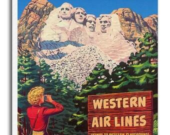 Mt Rushmore Canvas Travel Print South Dakota Art xr701