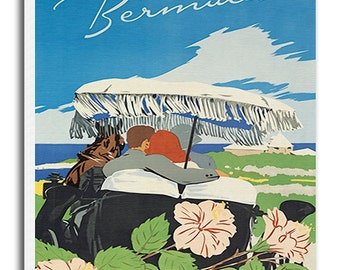 Bermuda Travel Poster Art Canvas Print Wall Decor xr659