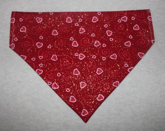 Valentine's Day Dog Bandanna in Small, Medium & Large
