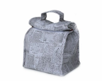 MTO Insulated lunch bag with handle - Letters