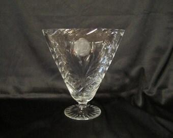 Awesome Cut Crystal Fan Shape Vase