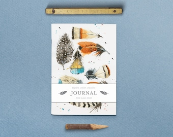 Nature Series Feather Journal with Belly Band