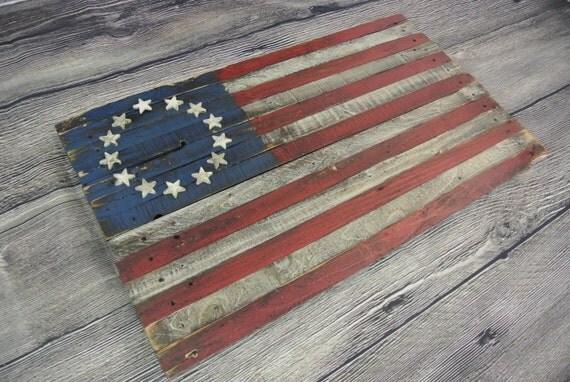 Like this item? - 3D Betsy Ross Reclaimed Wood Flag American Flag USA Flag