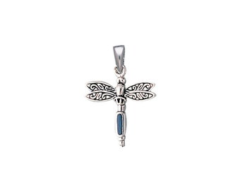 Dragonfly and Gem Pendant