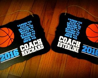 Basketball Coach Gift, Coach Gift, Basketball Coach, Basketball Gift, Personalized Basketball Sign, Basketball, One Personalized Coach Sign